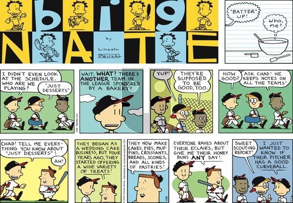 Big Nate on Sunday August 7, 2016 Comic Strip