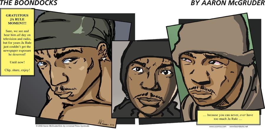 The Boondocks for Aug 18, 2002 Comic Strip