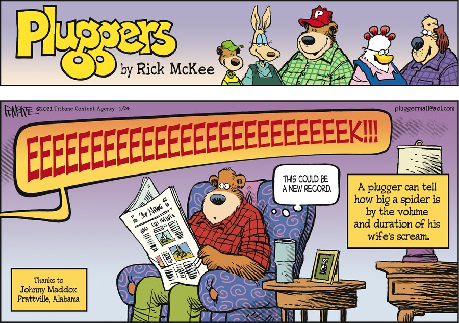 Pluggers Comic Strip for January 24, 2021