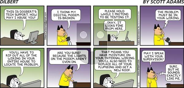 Dilbert on Sunday January 22, 2012 Comic Strip