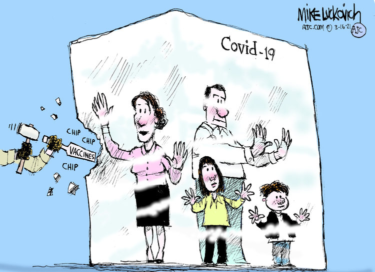 Mike Luckovich Comic Strip for March 16, 2021