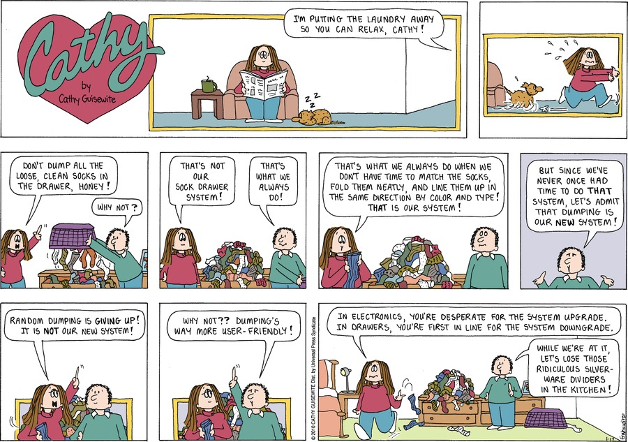 Cathy Comic Strip for January 17, 2010