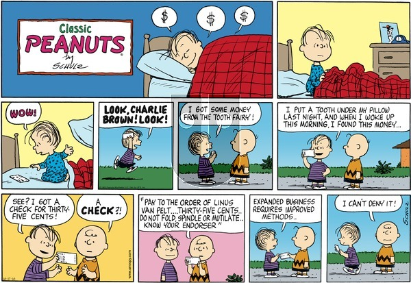 Peanuts - Sunday October 17, 2010 Comic Strip