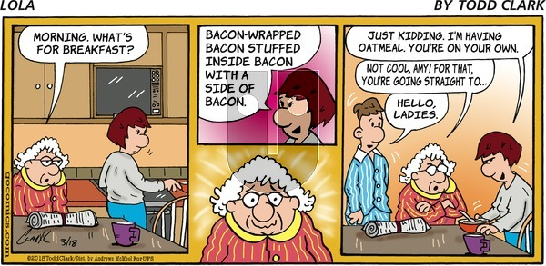 Lola on Sunday March 18, 2018 Comic Strip