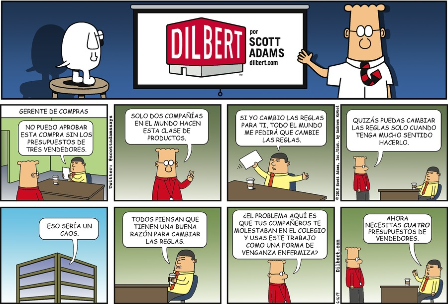 Dilbert en Español Comic Strip for June 16, 2019