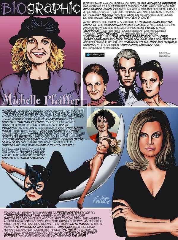 Biographic on Sunday October 15, 2017 Comic Strip