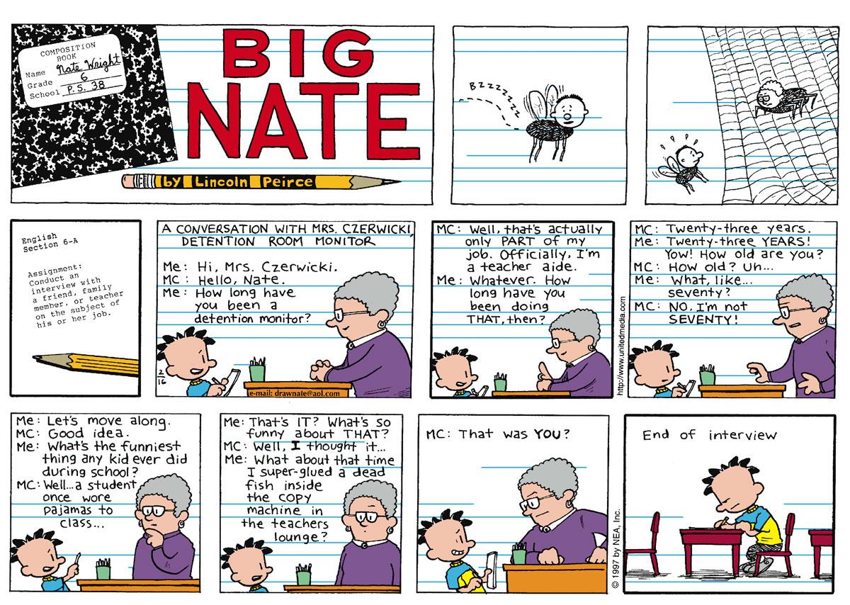 Big Nate for Feb 16, 1997 Comic Strip