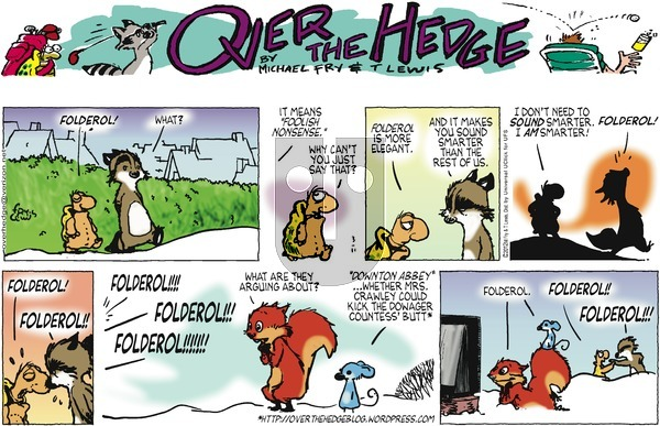 Over the Hedge on Sunday March 11, 2012 Comic Strip