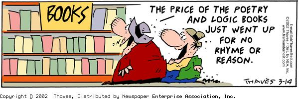 Frank and Ernest Comic Strip for March 14, 2002