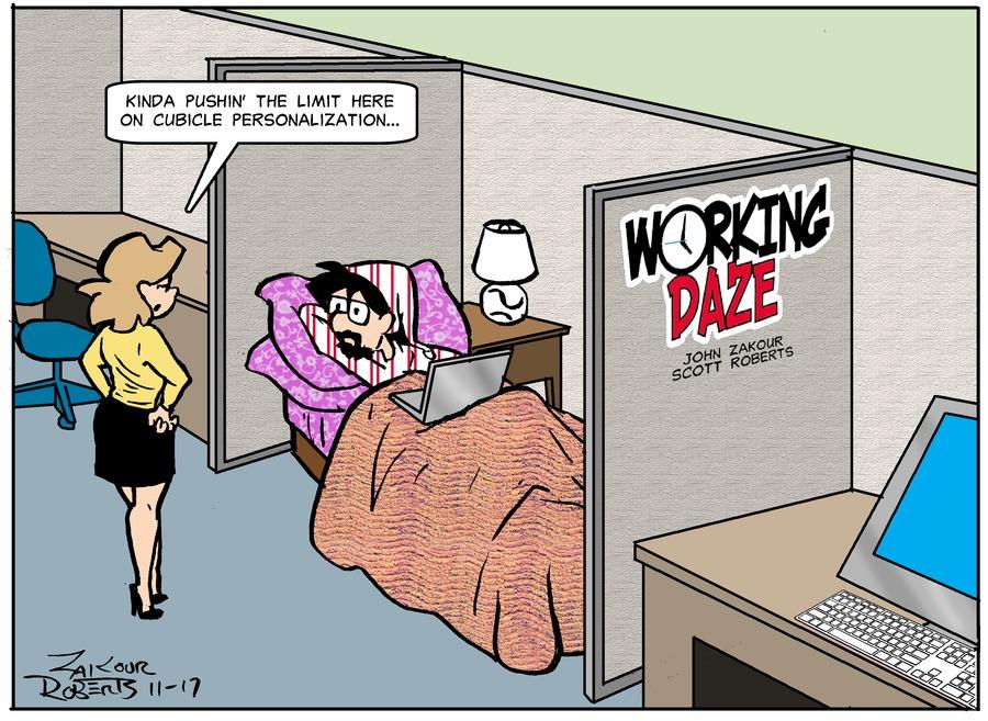 Working Daze Comic Strip for November 17, 2019