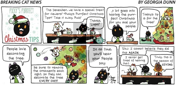 Breaking Cat News on Sunday December 2, 2018 Comic Strip