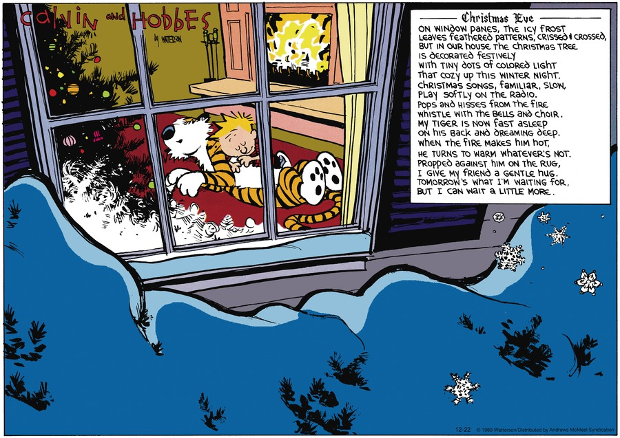 Calvin and Hobbes Comic Strip for December 22, 2019
