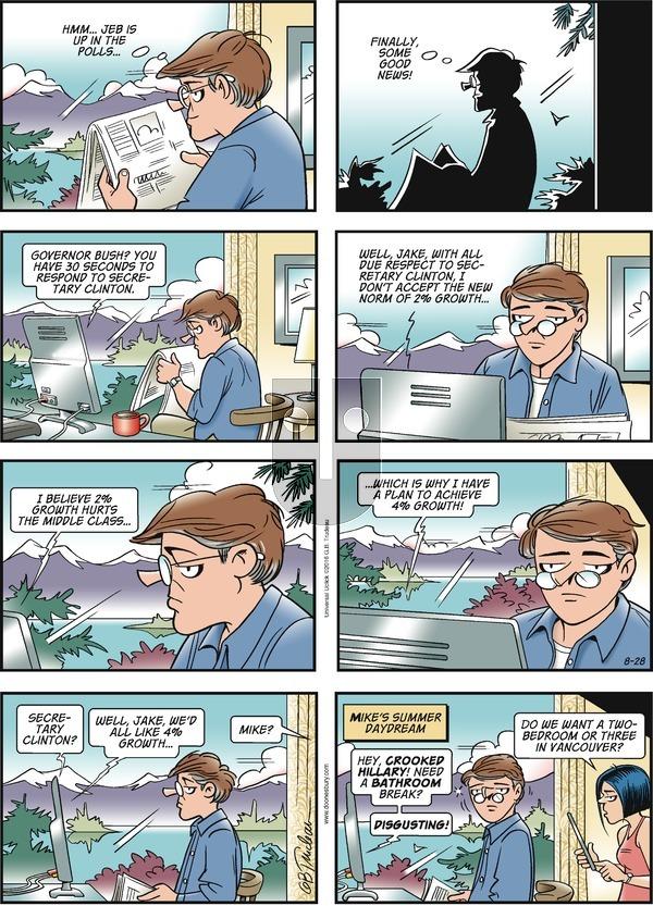 Doonesbury on Sunday August 28, 2016 Comic Strip