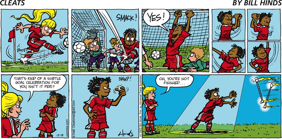 Cleats Comic Strip for December 08, 2002