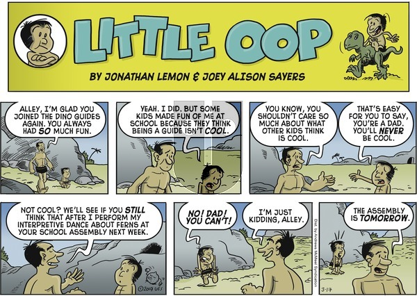 Alley Oop on Sunday March 17, 2019 Comic Strip