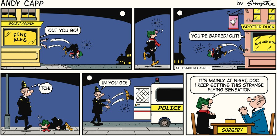 Andy Capp Comic Strip for April 18, 2021