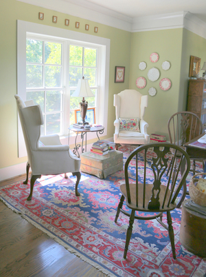 A mom cave is meant to be a peaceful and private place, not like the man cave, which is usually a social center, where guys gather to watch the game. The lady of this Leiper's Fork, Tenn., home uses her mom cave to read and host intimate book clubs.