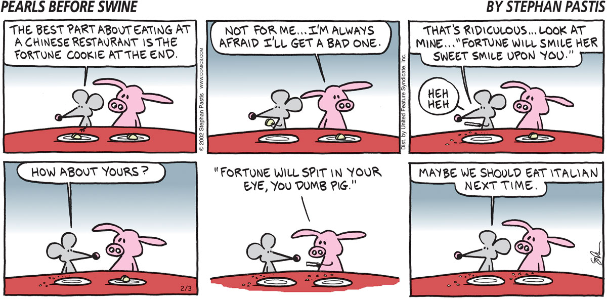 Pearls Before Swine Comic Strip for February 03, 2002