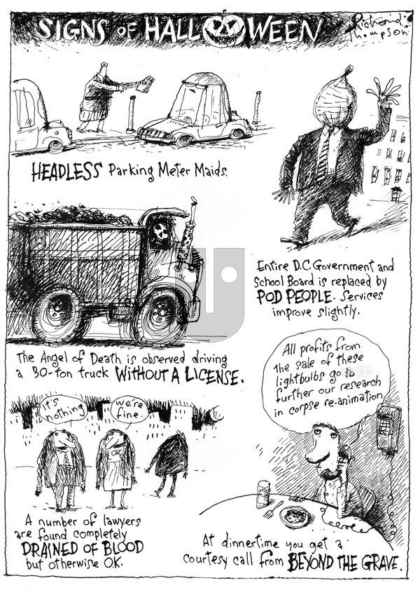 Richard's Poor Almanac on Sunday October 25, 2015 Comic Strip