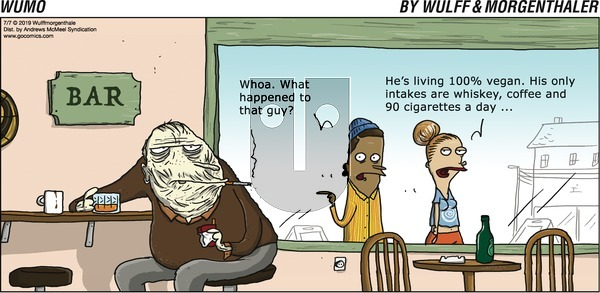 WuMo on Sunday July 7, 2019 Comic Strip