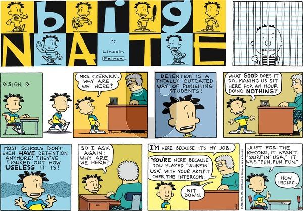 Big Nate - Sunday May 5, 2013 Comic Strip