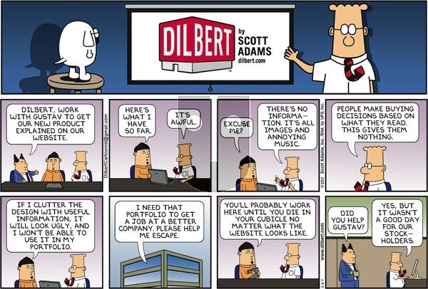 Dilbert on Sunday February 6, 2011 Comic Strip