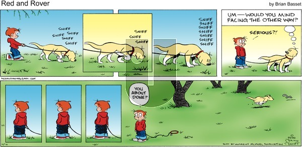 Red and Rover on Sunday April 12, 2020 Comic Strip
