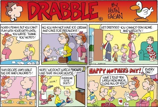 Drabble on Sunday May 11, 2014 Comic Strip
