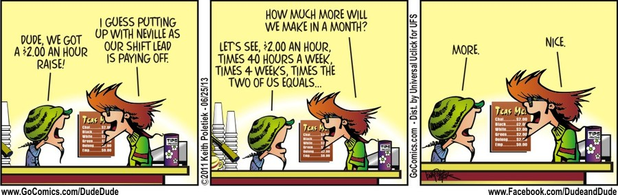 Dude and Dude for Jun 25, 2013 Comic Strip