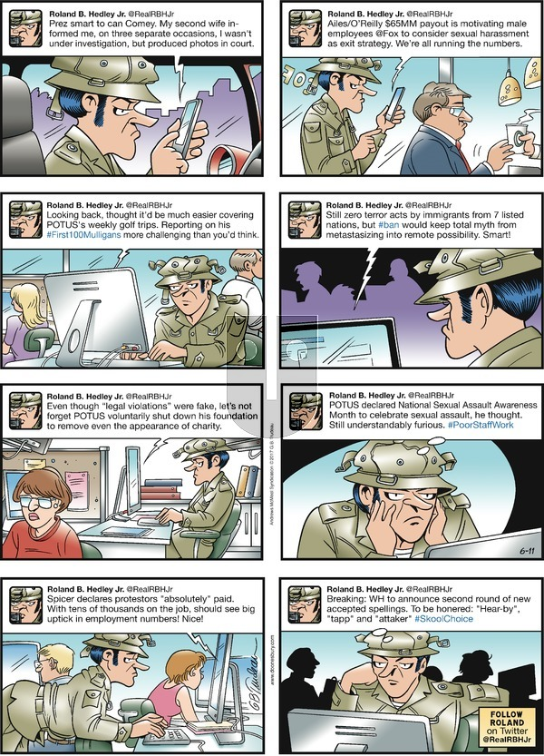 Doonesbury on Sunday June 11, 2017 Comic Strip