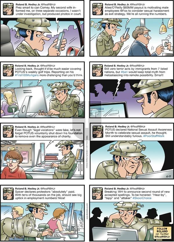 Doonesbury on Sunday June 11, 2017 Comic Strip