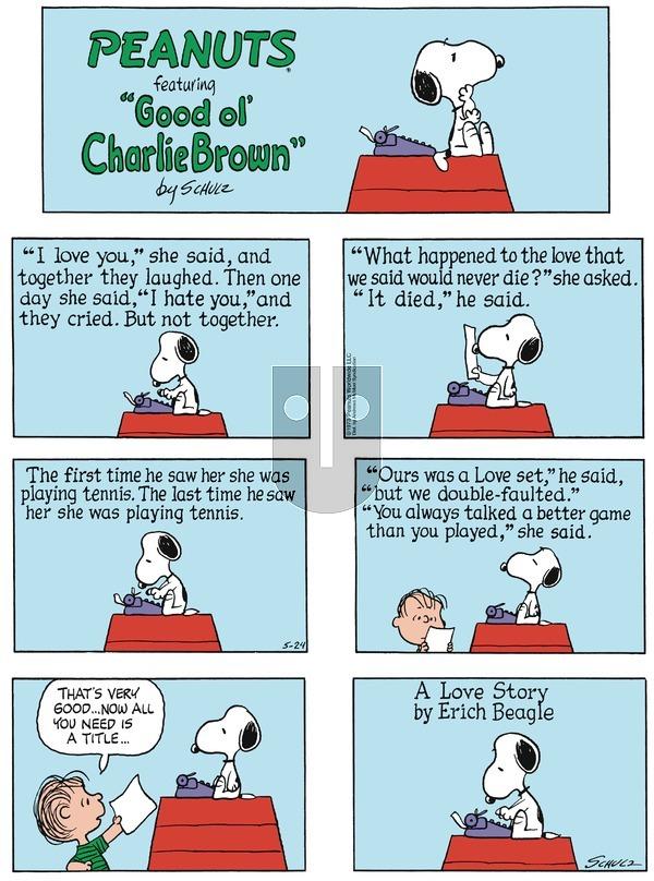Peanuts on Sunday May 24, 2020 Comic Strip