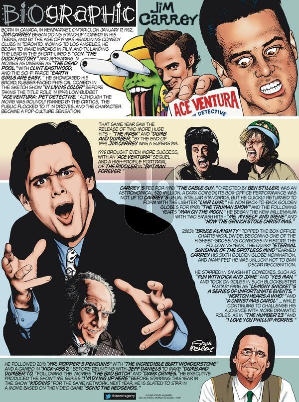 Biographic on Sunday November 25, 2018 Comic Strip