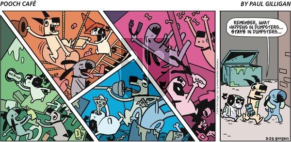Pooch Cafe on Sunday March 25, 2018 Comic Strip