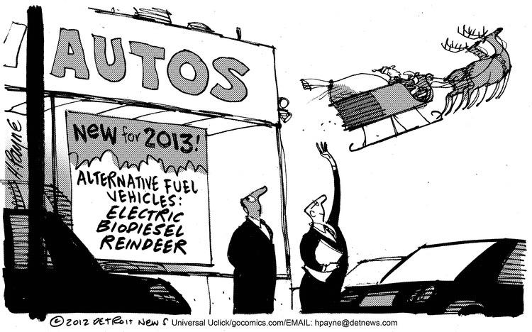 Autos  New for 2013!  Alternative fuel vehicles: electric bio-diesel reindeer