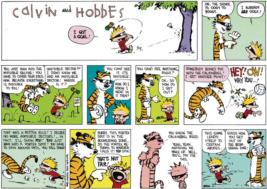 Calvin and Hobbes Comic Strip for September 18, 1994