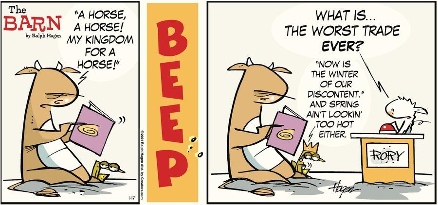 The Barn Comic Strip for January 17, 2021