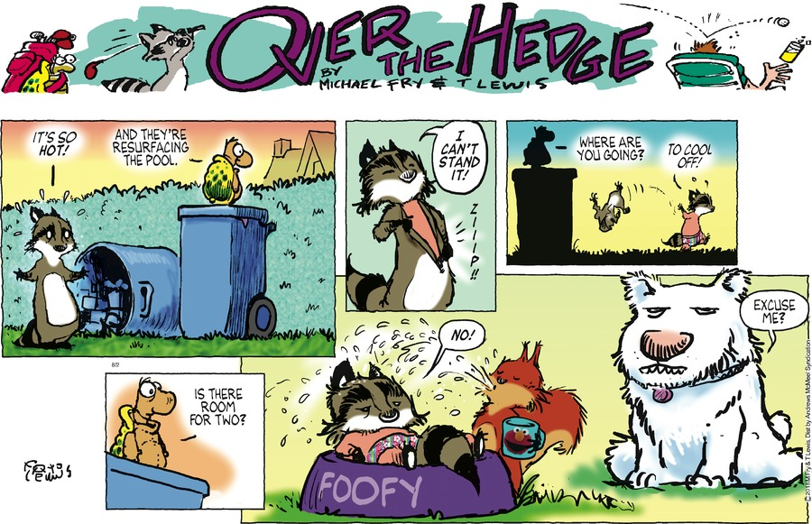Over the Hedge Comic Strip for August 02, 2020