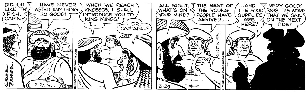 Alley Oop for Mar 29, 1997 Comic Strip