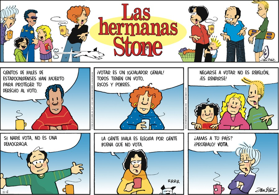 Las Hermanas Stone by Jan Eliot for November 04, 2018