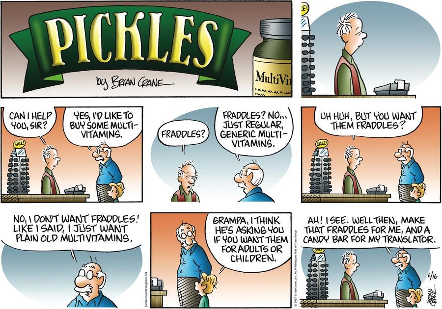 Pickles for Jun 16, 2013 Comic Strip