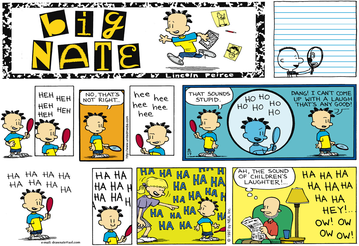 Big Nate Comic Strip for August 17, 1997