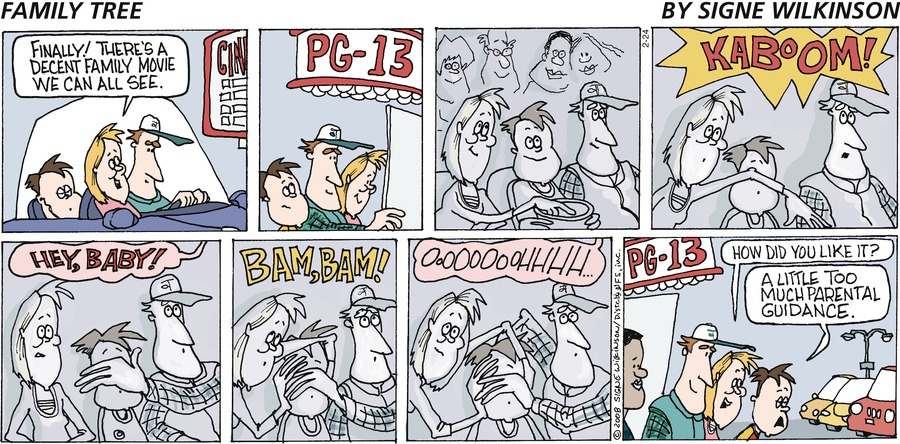 Family Tree Comic Strip for February 24, 2008