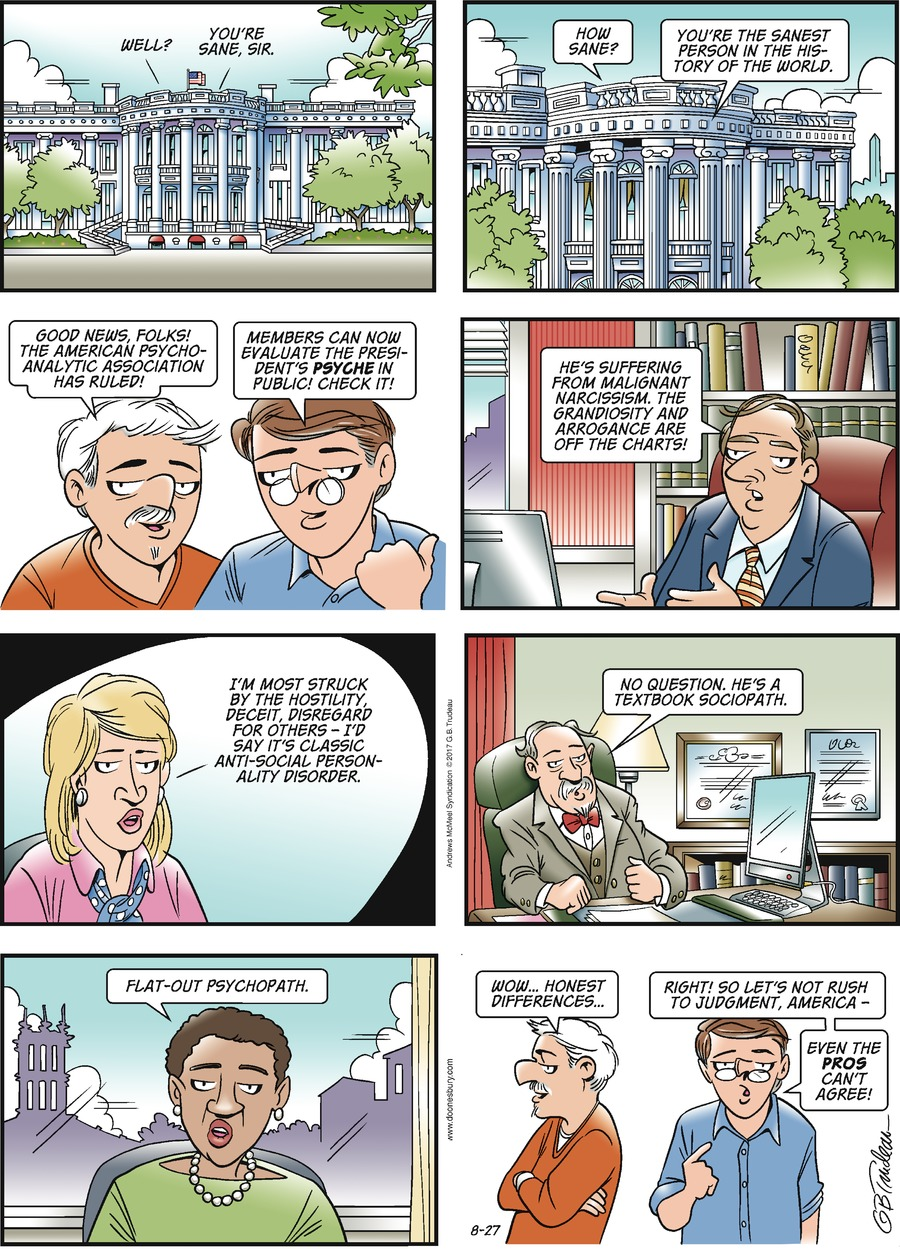 Doonesbury for Aug 27, 2017 Comic Strip