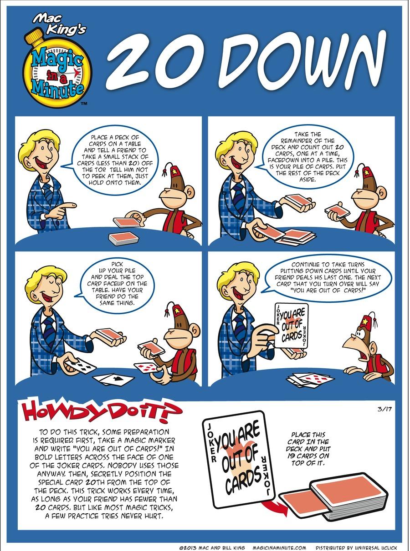 Magic in a Minute for Mar 17, 2013 Comic Strip