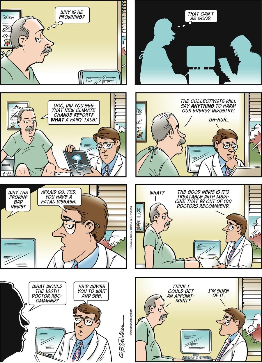 Doonesbury Comic Strip for June 22, 2014