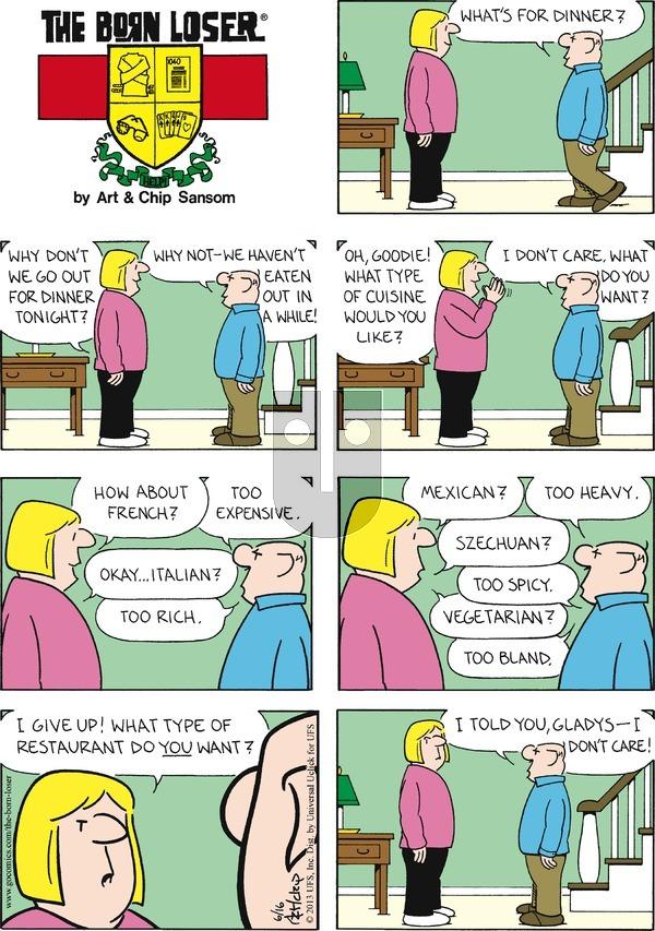 The Born Loser on Sunday June 16, 2013 Comic Strip