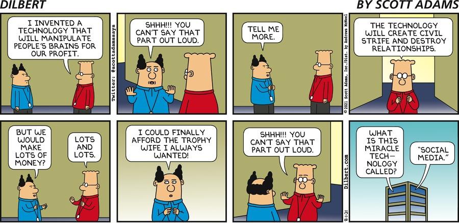 New Technology - Dilbert by Scott Adams