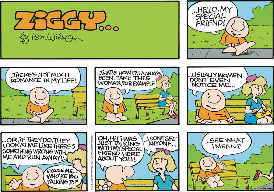 Ziggy Comic Strip for July 08, 2018