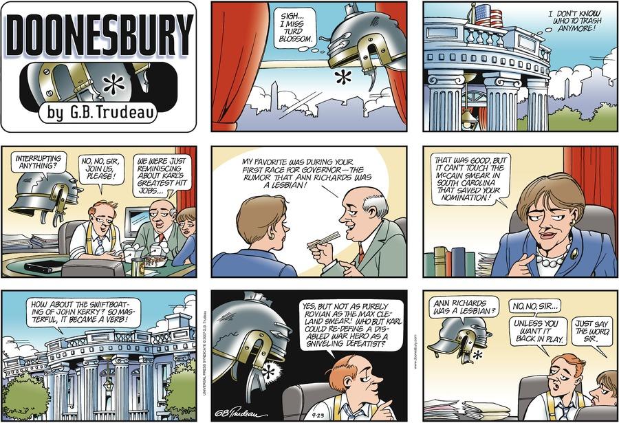 Doonesbury Comic Strip for September 23, 2007